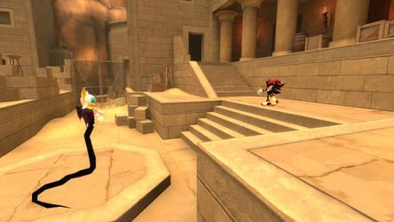 Shadow encounters Naga Rouge by Deceptihog001