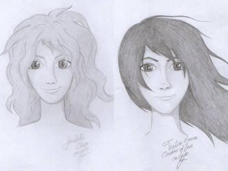 Annabeth and Thalia by IraNyaaasha