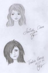 Thalia and Annabeth by IraNyaaasha