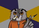 Cartoon Art-Student Owl by petirep