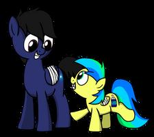 ~ToasteezTheBrony OC - Brightspark and Aurora by petirep