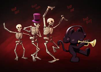 Monstercat Spooky Halloween Skeletals by petirep