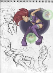 Starfire doodles by ab-lynx