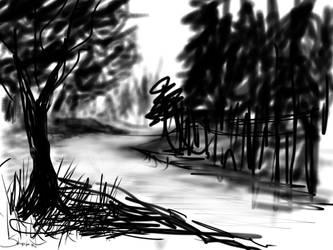 LANDSCAPE SKETCH by whitefishsc
