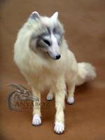 Hewie the Arctic Fox Room Guardian by AnyaBoz