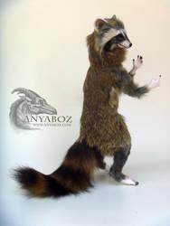 Matcha the Raccoon Room Guardian by AnyaBoz