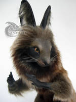 Masked Rabbit Room Guardian by AnyaBoz