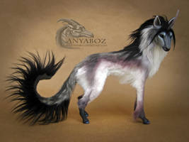 Silver African Unicorn Room Guardian by AnyaBoz