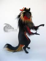 Crimson Wolf Warrior Room Guardian by AnyaBoz
