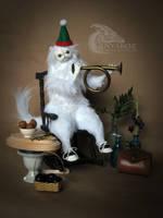 Onyx Persian Cat room Guardian by AnyaBoz