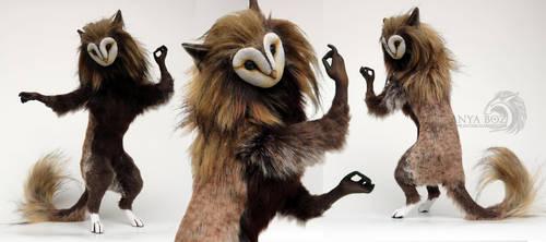 Barn Owl Gryphinx Room Guardian by AnyaBoz