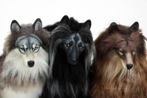 Semi-Custom Wolf Room Guardians by AnyaBoz