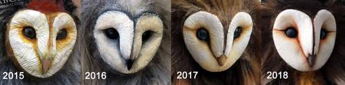 Barn Owl Sculpting Progression by AnyaBoz