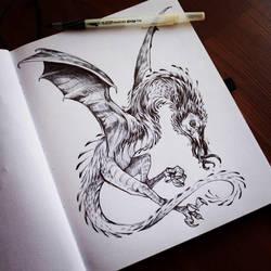 Snallygaster by AnyaBoz