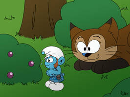 Hello there, little smurf by Shini-Smurf