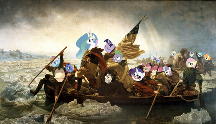 Celestia Crossing the Delaware by Orschmann