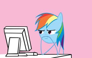 Rainbow Dash Reaction Face by Orschmann