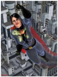 Soviet Superwoman: Skyward by tartanninja