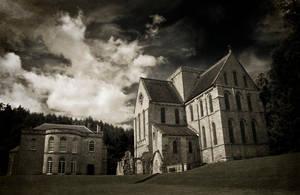 Brinkburn Priory mono by newcastlemale