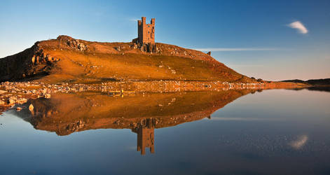 Dunstanburgh Castle Relfection by newcastlemale