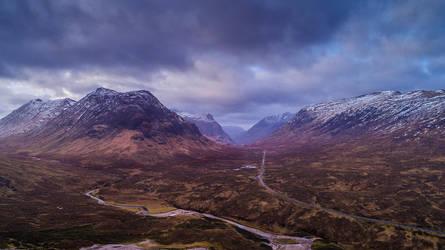 Glencoe Mountains by newcastlemale