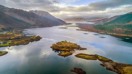 Glencoe from above by newcastlemale