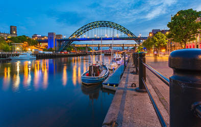 Boats on the Tyne by newcastlemale