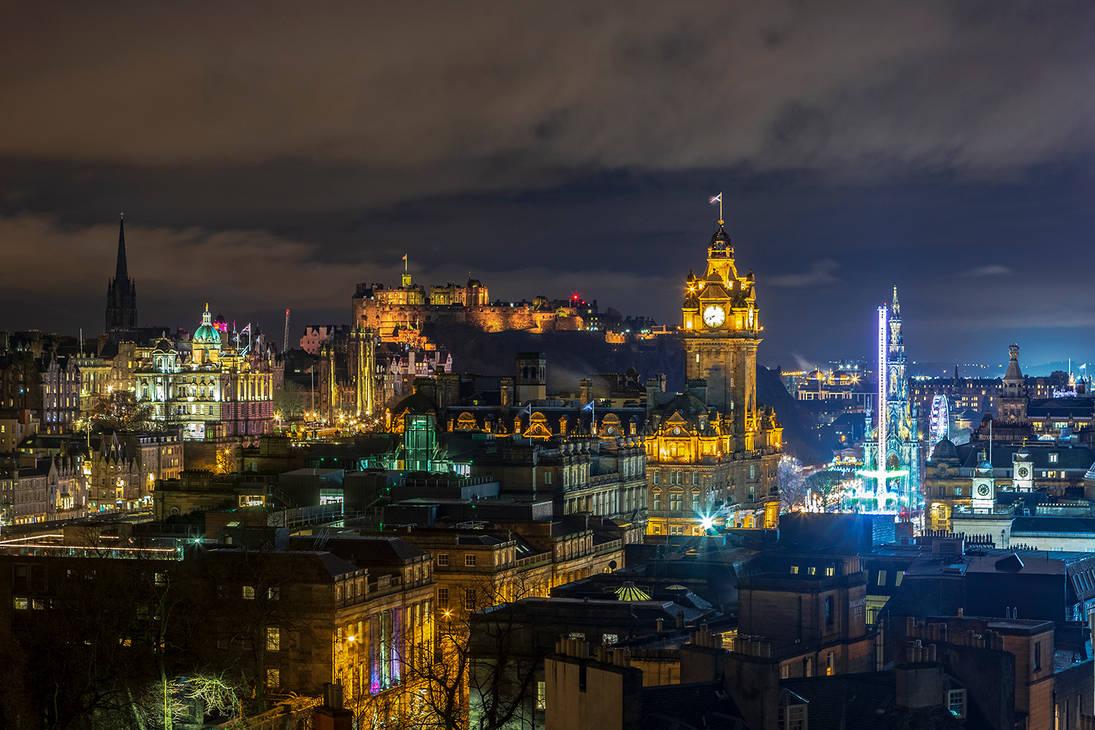 Edinburgh Skyline by newcastlemale
