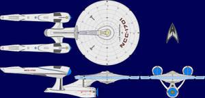 USS Enterprise AU Multi-View by captshade