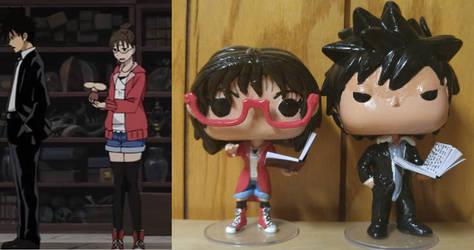 Akutabe and Sakuma Custom Pop Vinyl Doll by Kat-The-Stampede