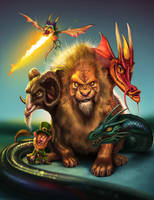 mythical creatures by fubango