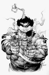 Nick Fury: Leinil Yu by boysicat