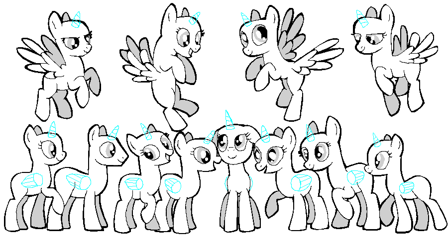 Pony Group Base Ms Paint By Jazzlovessilkies On Deviantart