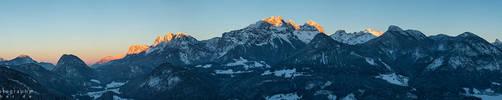 Good Night Alps Panorama by Scorpidilion