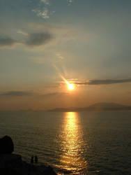 sunset at Hydra by twira