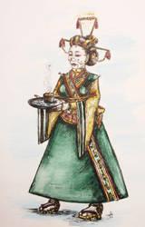 Steampunk Karakuri Tea Server by Forfaxia
