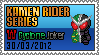 Stamp. Kamen Rider Series : W Cyclone Joker by DrDhoom