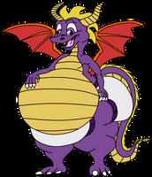 Fat Diapered Spyro by Sharpe-Fan