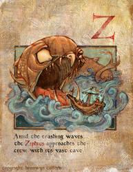 Medieval Alphabet_Ziphius by zuckerglider