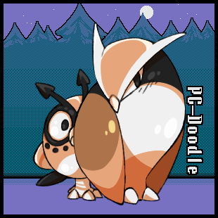 Beta Noctowl + Hoothoot by PC-Doodle