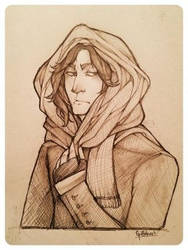 Snape in a snood by Griffinhart