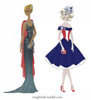 Avengers Gowns: Thor and Captain America by kelseymichele