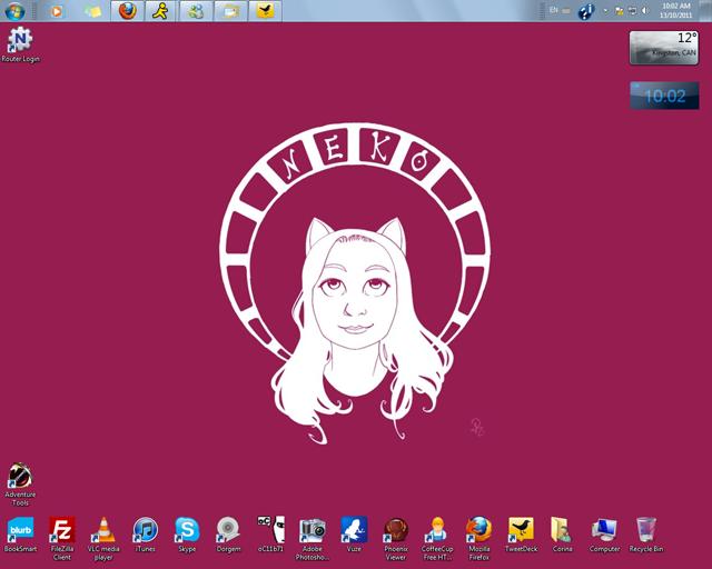 commission portrait desktop by nekozikasilver1