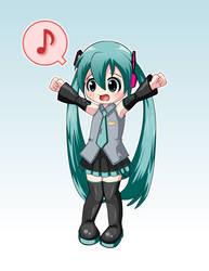 Little Vocaloid Miku by Shinukoto-Dei