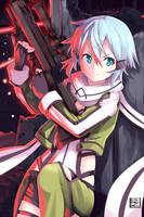 Sinon - Sword art online (GGO) by hirokiart