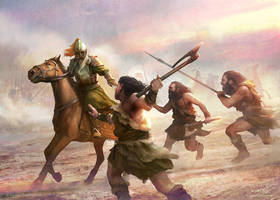 Dunlending Attack by Cristi-B