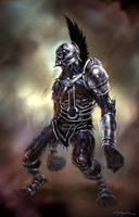 God of War III-Olympus Sentry1 by andyparkart