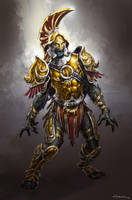God of War III- Armored Sentry by andyparkart