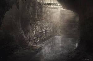 God of War III- Wall Run by andyparkart