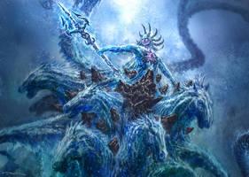 God of War III- Poseidon 02 by andyparkart